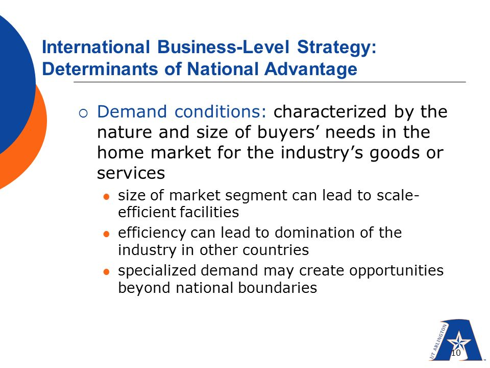 determinants of national advantage The determinants of national innovative capacity of the determinants of country-level cluster-based theory of national industrial competitive advantage.
