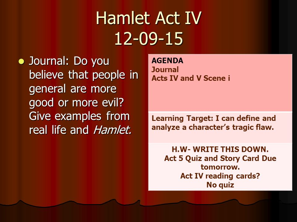 hamlet act 1 essay example The tools you need to write a quality essay or hamlet character analysis some plays take the (act1128-30) in the time in which hamlet is.