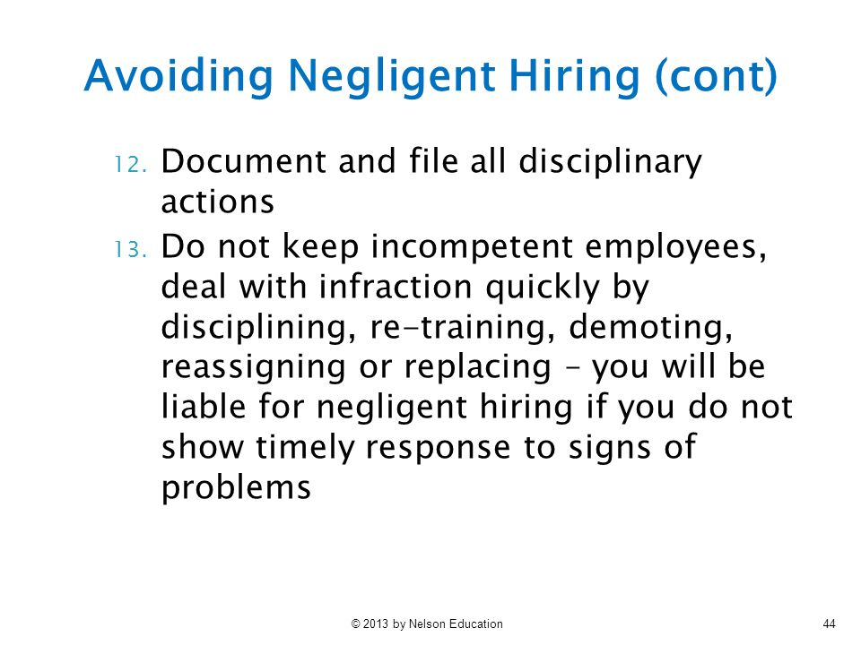 Negligent Hiring Law and Legal Definition