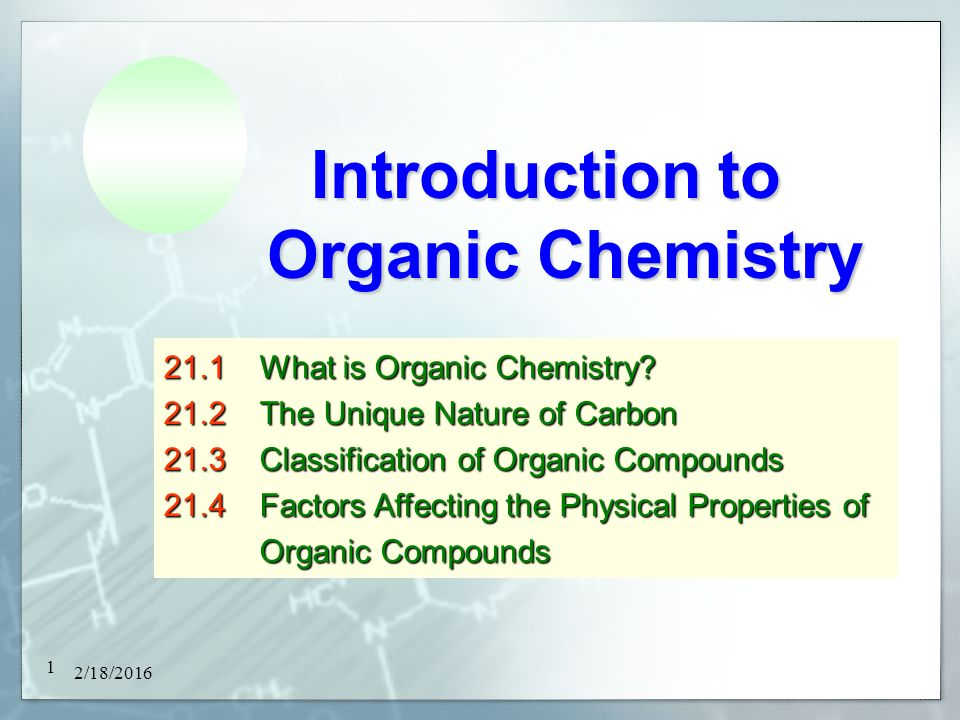 factors affecting physical properties of organic compounds Of naturally occurring organic compounds some attention also will be paid to  446 12 cycloalkanes, cycloalkenes, and cycloalkynes table 12-1 physical properties of alkanes and cycloalkanes density, compounds bp, c mp, c dio, g ml-' propane cyclopropane butane.