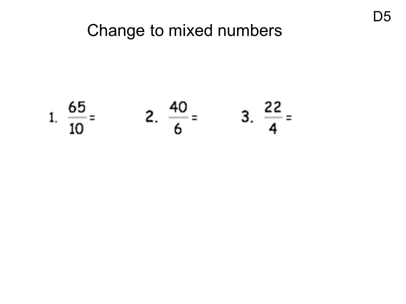 Review Dividing Fractions