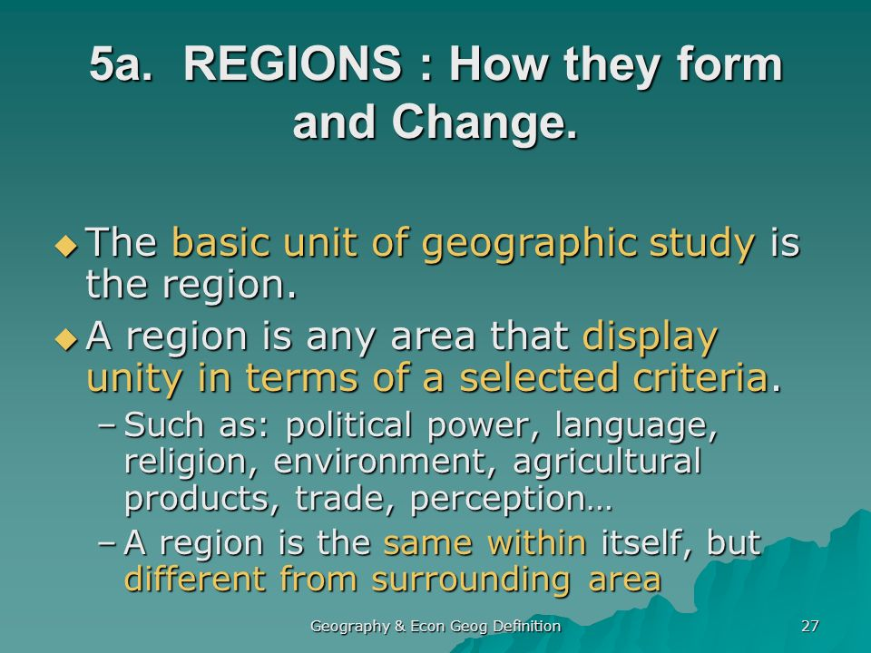 the impact of religion and geography in the formation of regions This report divides the world into five regions to take a closer look at the geographic distribution of christians  see pew research center's forum on religion.