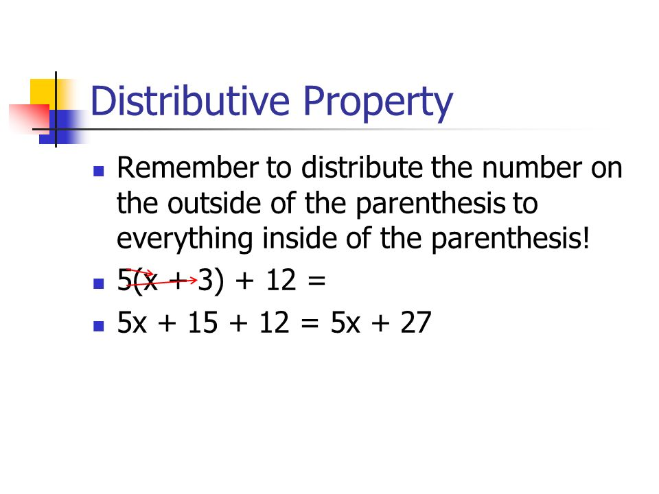 how to solve distributive property