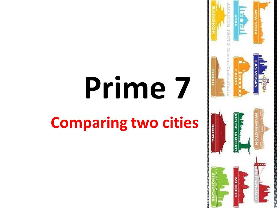 essay on comparing two cities