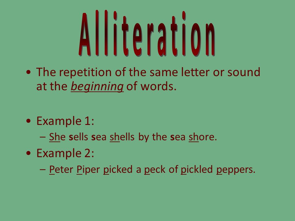 Meaning And Examples Of Alliteration Images Example Cover Letter