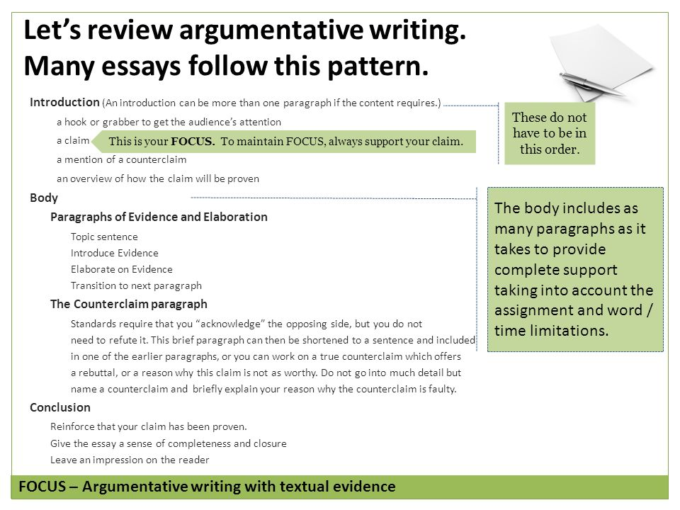 easy rubric for argumentative essay