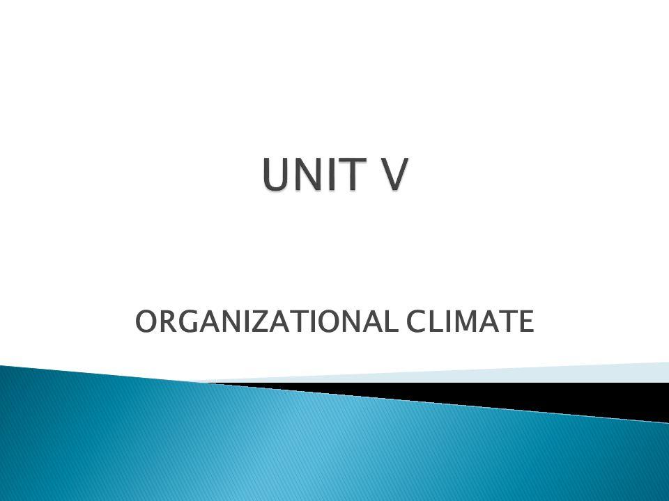 ORGANIZATIONAL CLIMATE