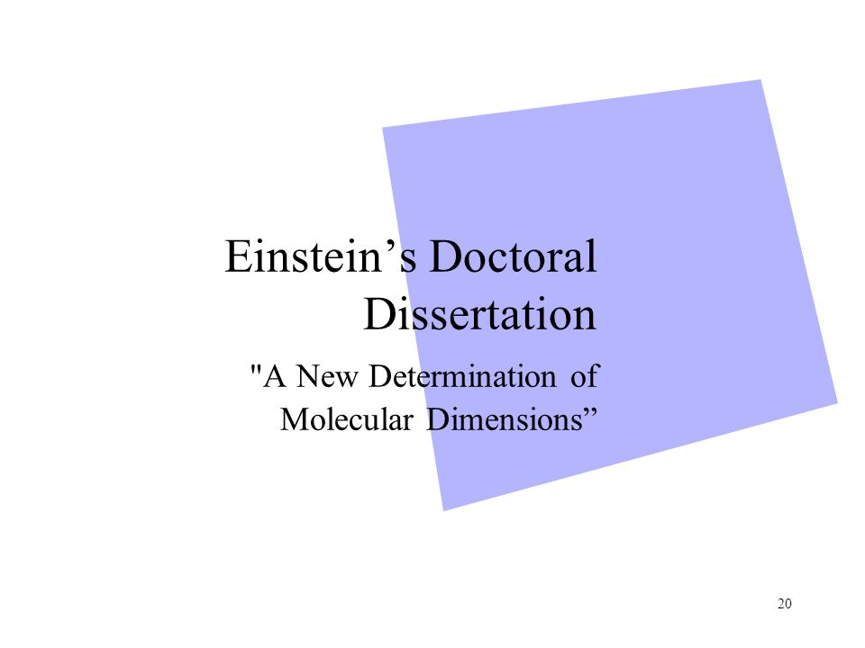 a new determination of molecular dimensions Request pdf on researchgate | determination of the molecular mass and dimensions of membrane proteins by size exclusion chromatography | size exclusion chromatography is an established technique .