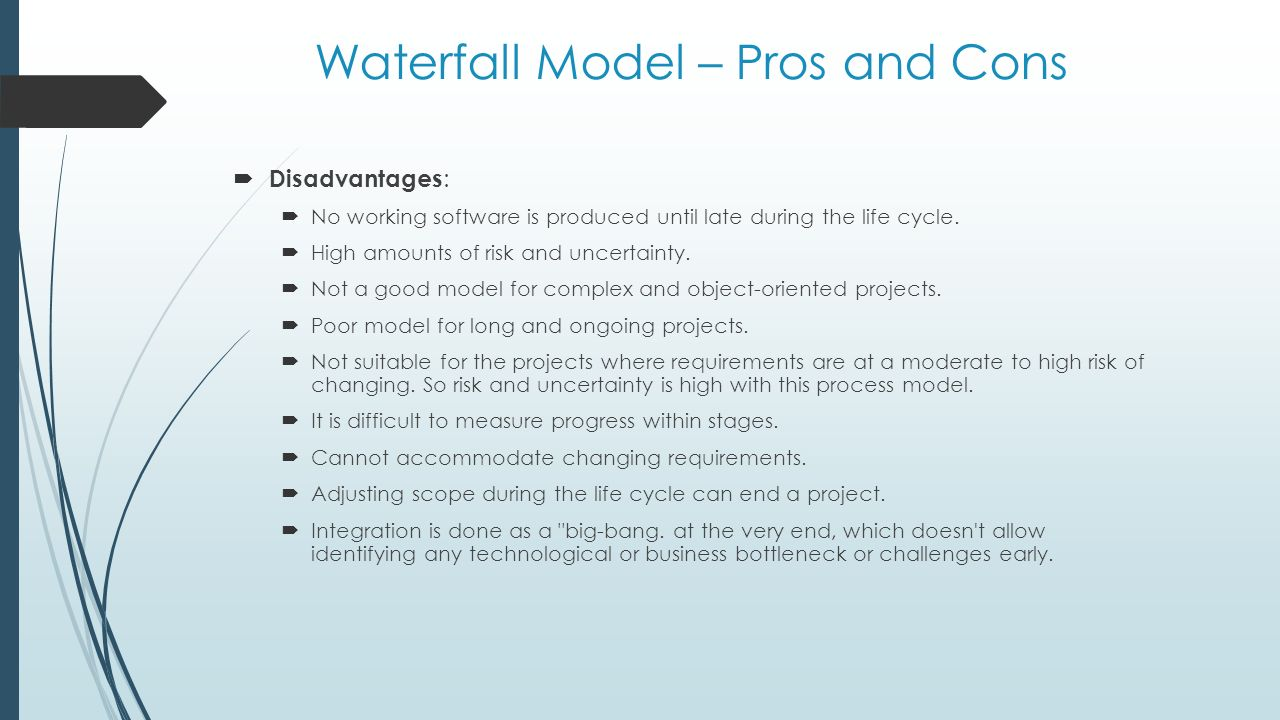 Software process modelling ppt video online download for Waterfall methodology advantages and disadvantages