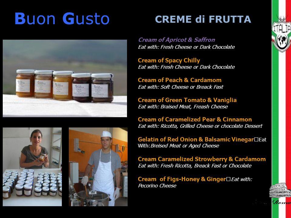 Buon Gusto CREME di FRUTTA Cream of Apricot & Saffron