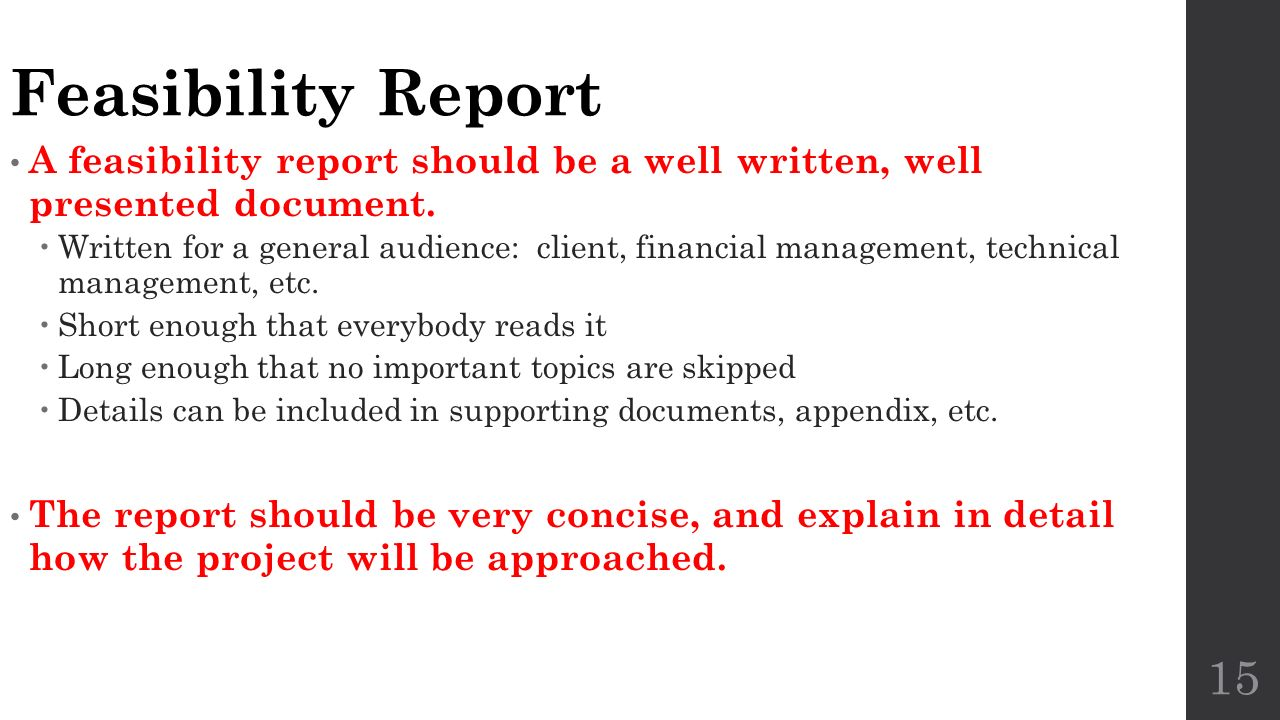 project feasibility report What is a 'feasibility study' a feasibility study is an analysis of how successfully a project can be completed, accounting for factors that affect it such as.