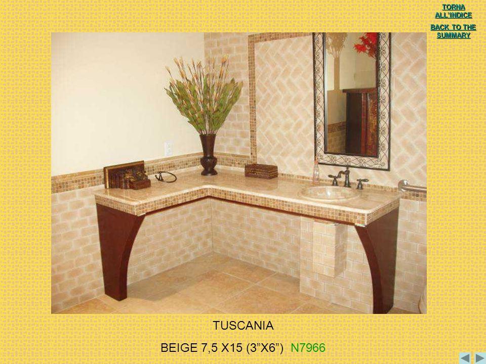 TUSCANIA BEIGE 7,5 X15 (3 X6 ) N7966 TORNA ALL'INDICE