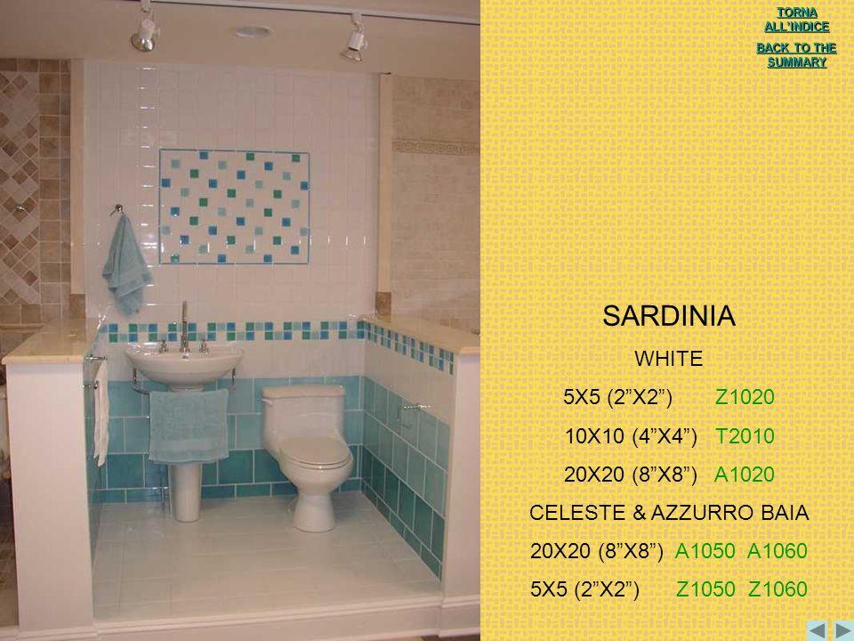 SARDINIA WHITE 5X5 (2 X2 ) Z1020 10X10 (4 X4 ) T2010