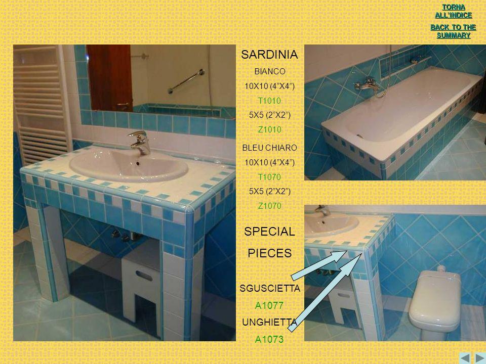 SARDINIA SPECIAL PIECES SGUSCIETTA A1077 UNGHIETTA A1073 BIANCO