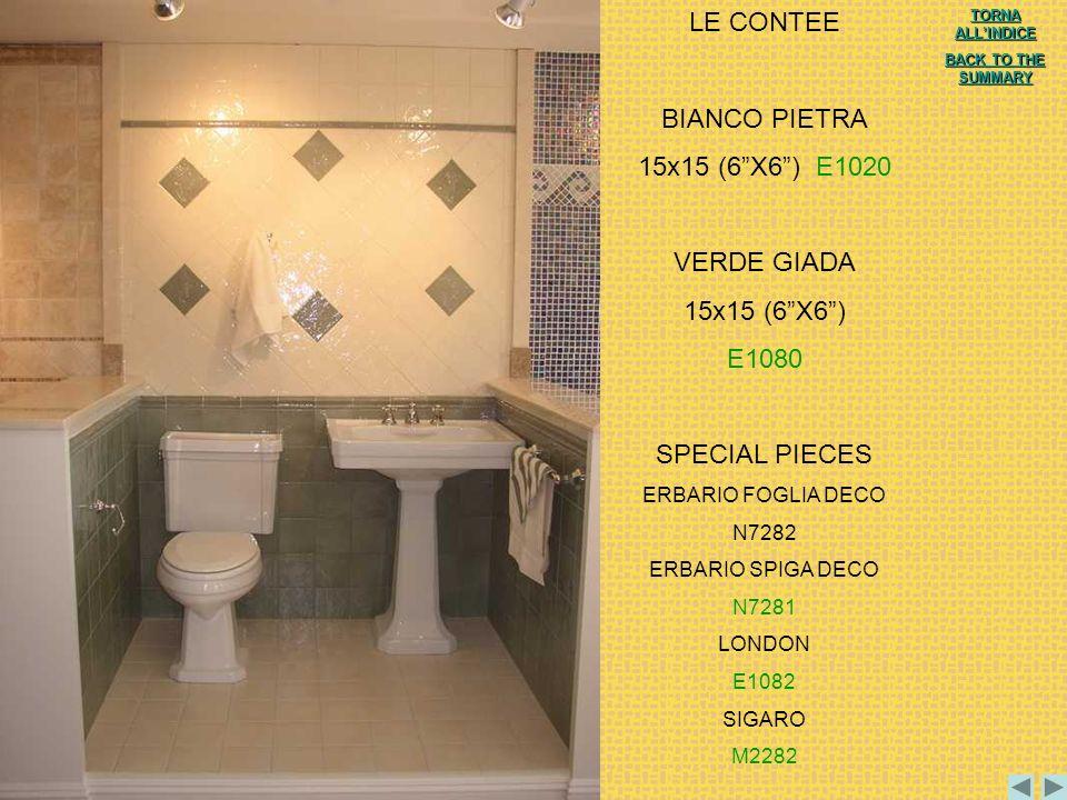 LE CONTEE BIANCO PIETRA 15x15 (6 X6 ) E1020 VERDE GIADA 15x15 (6 X6 )