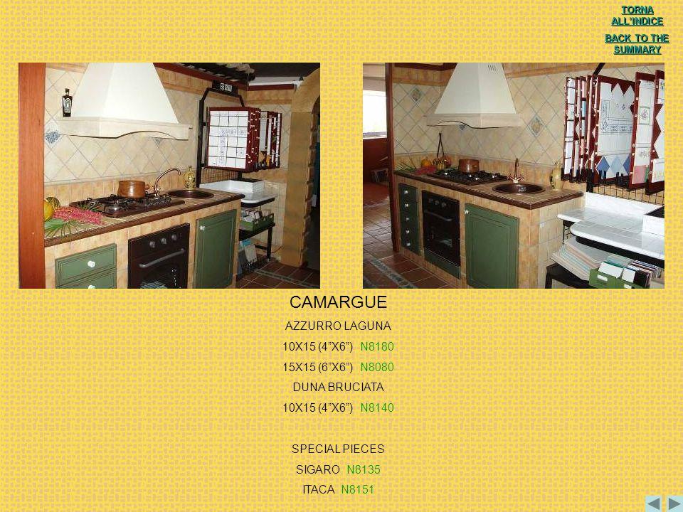 CAMARGUE AZZURRO LAGUNA 10X15 (4 X6 ) N8180 15X15 (6 X6 ) N8080