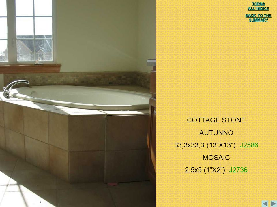 COTTAGE STONE AUTUNNO 33,3x33,3 (13 X13 ) J2586 MOSAIC