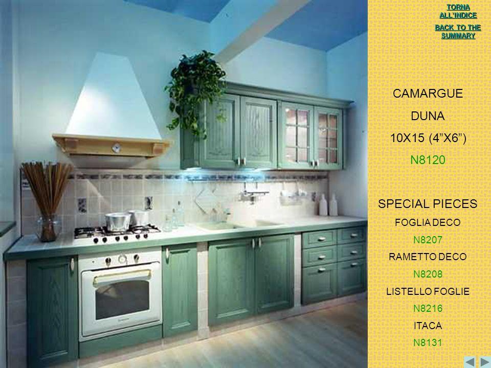 CAMARGUE DUNA 10X15 (4 X6 ) N8120 SPECIAL PIECES FOGLIA DECO N8207