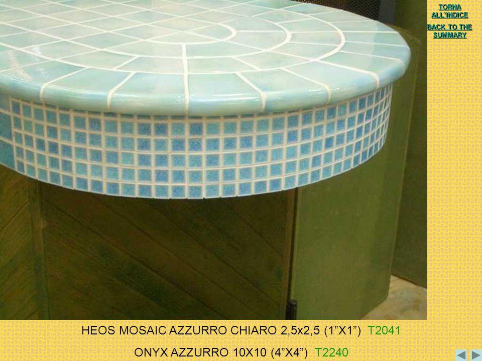 HEOS MOSAIC AZZURRO CHIARO 2,5x2,5 (1 X1 ) T2041