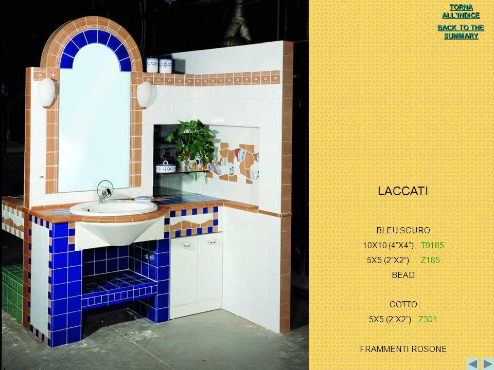 LACCATI BLEU SCURO 10X10 (4 X4 ) T9185 5X5 (2 X2 ) Z185 BEAD COTTO