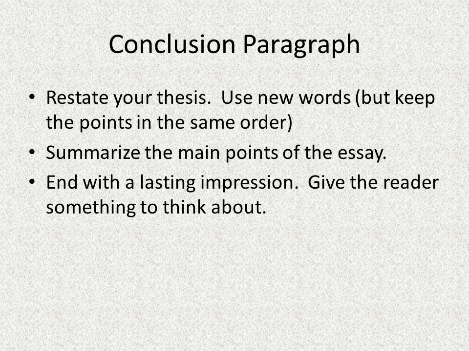 How to Restate a Thesis Statement