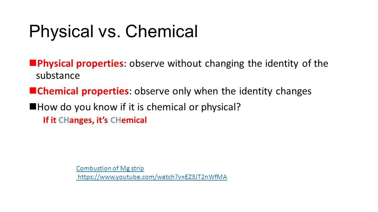 Chemical vs physical change worksheet answers