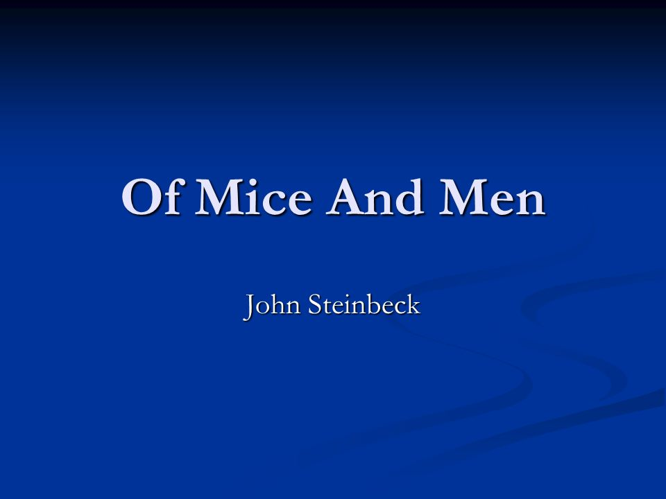 dream lennie and george mice and men john steinbeck Of mice and men by john steinbeck home / literature / of mice and men / character quotes / george milton /  live the dream) but with lennie, george can believe.