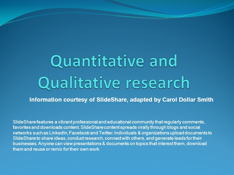 Quantitative And Qualitative Research Ppt Video Online Download