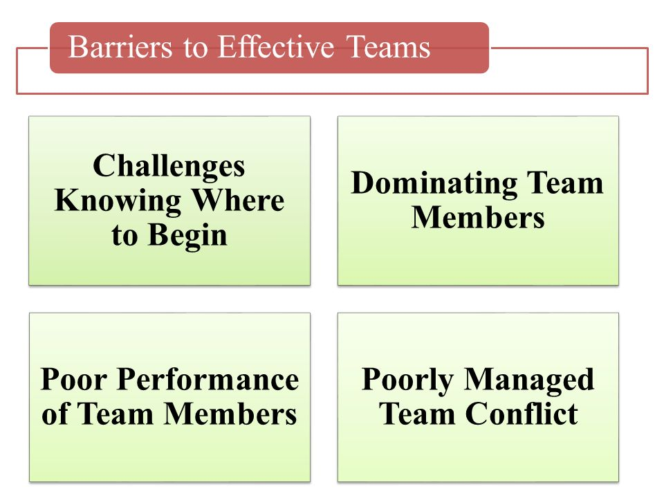 barriers to effective team building pdf