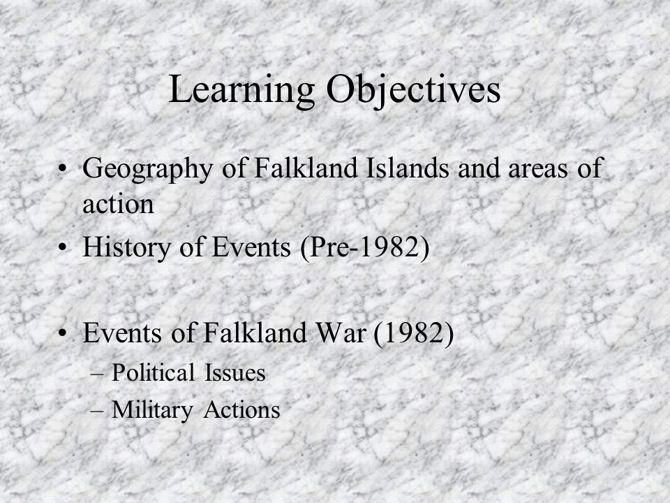Events leading to the Falklands War