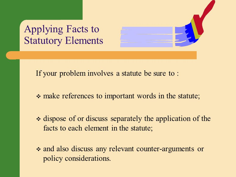 an analysis of the important facts in court Files with a court in support of his or her client's position ii functions of case  briefing a case briefing helps you acquire the skills of case analysis and legal   identify important facts, etc, before beginning to brief the case on paper 2  heading.