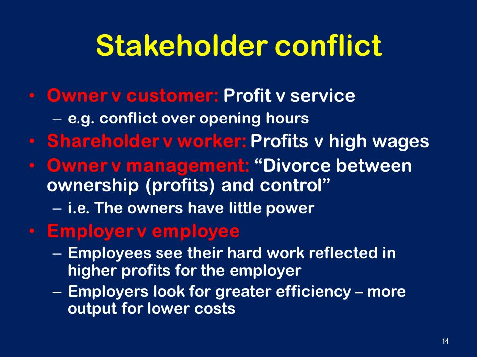 Preventing Conflicts Through Stakeholder Management