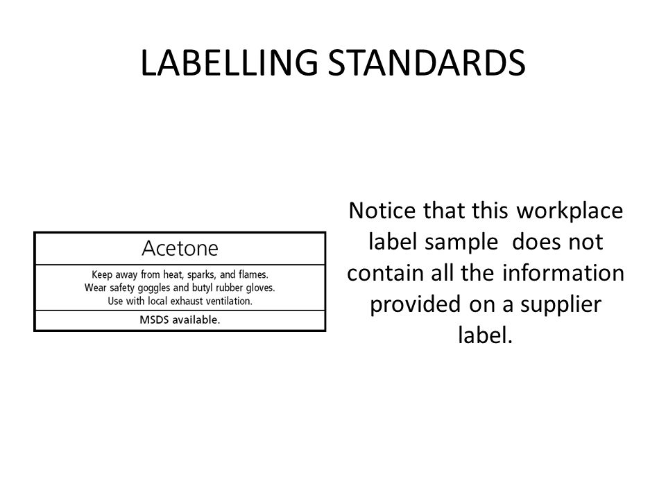 whmis workplace label template - workplace hazardous materials information systems and the