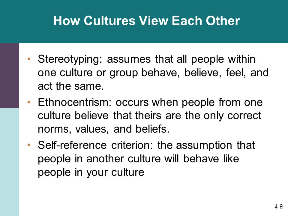 How Cultures View Each Other