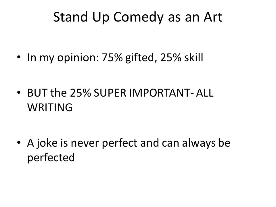 How I wrote my first stand up comedy set and succeeded