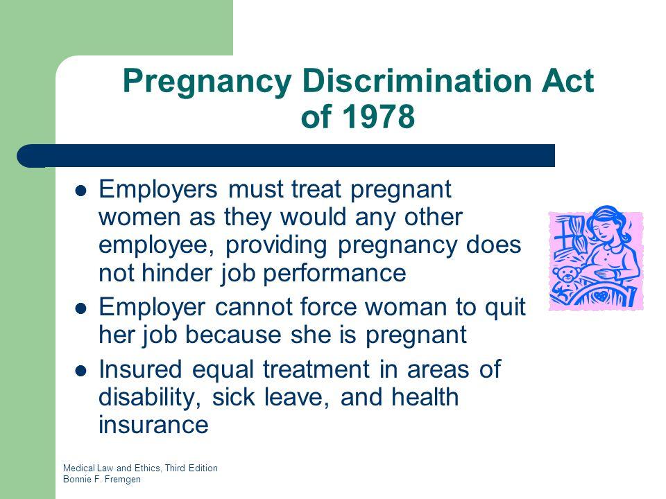 Pregnancy discrimmination act of 1978