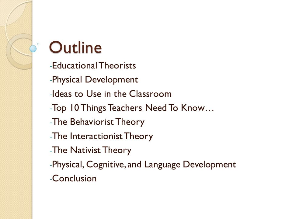 nativist theory in the classroom pdf