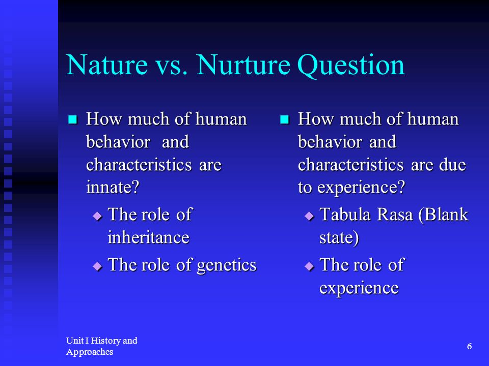 The role of heredity and environment in shaping human characteristics