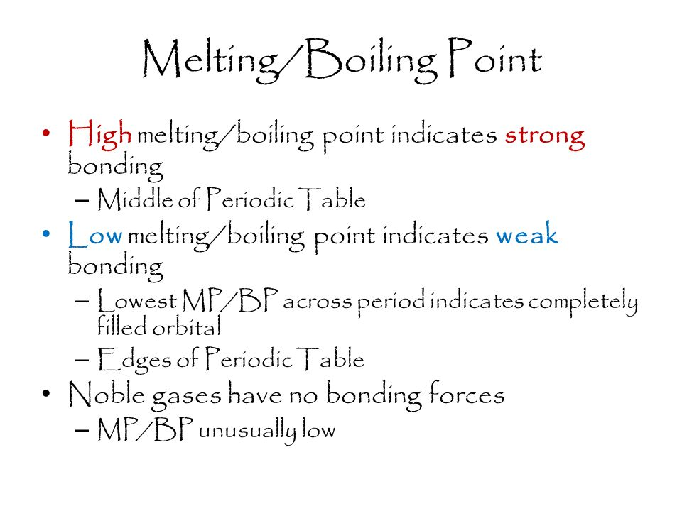 boiling point and melting relationship counseling