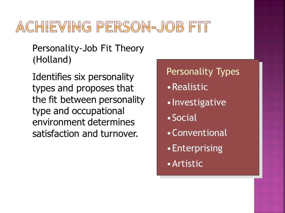 job fit Careerfitter career personality test: is specifically designed to determine your work personality we immediately process your results and generate your report detailing your personality at work your report includes the list of careers and jobs that fit you best, helping you determine which career will bring you the most success and satisfaction.