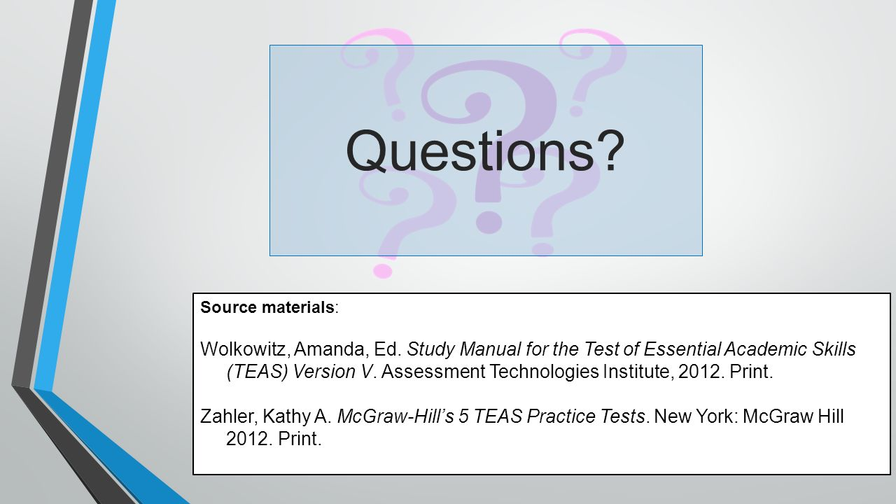 how to study for the teas v test