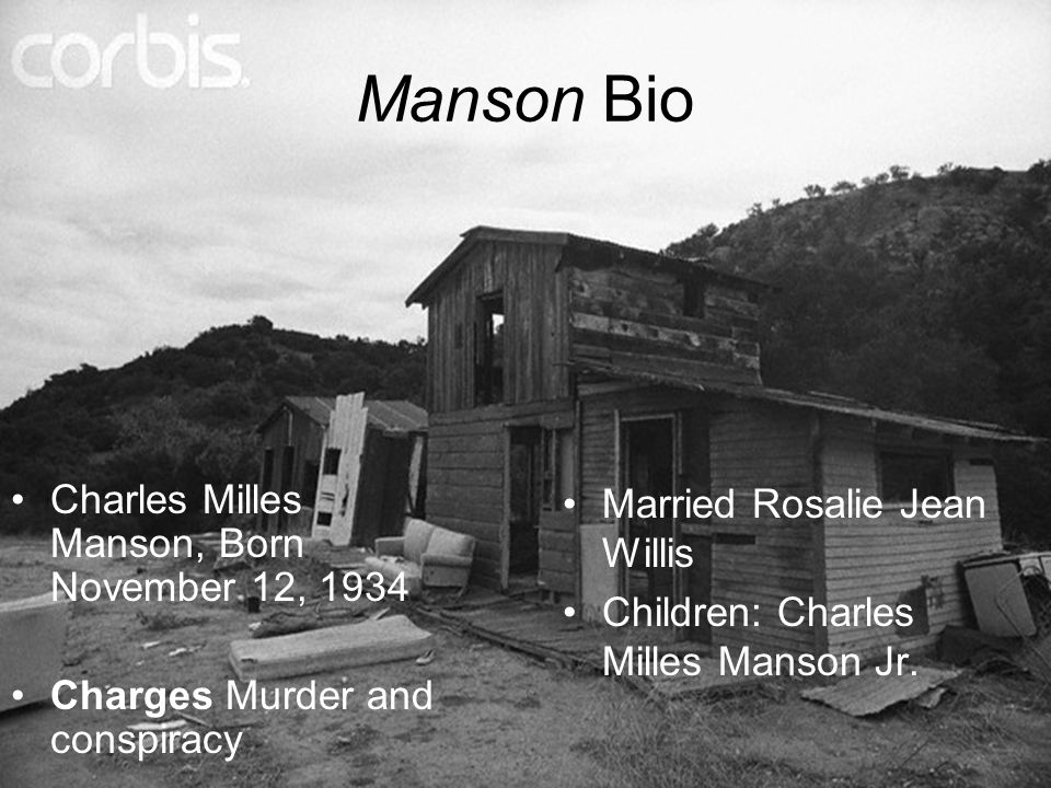 a biography of charles milles manson Find out about charles manson & rosalie jean willis divorced, children, joint family tree & history, ancestors and ancestry right here at famechain.