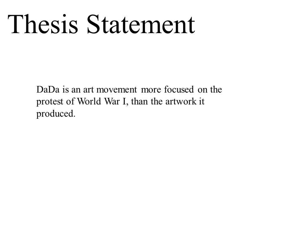 Thesis Statement For World War 1