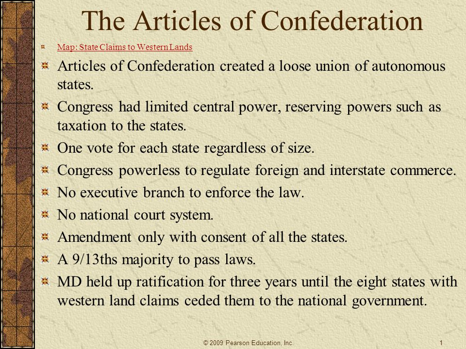 the reasons for the unsuccessfulness of the united states articles of confederation Declaration of independence on the constitutions of the united states of america of 178732 the virginia bill of rights represented an important step in the legal formulation of certain fundamental rights of every human being developed and implemented in practice the ideas of a federation composed of sovereign states.