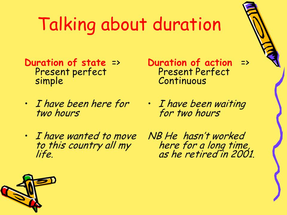 Talking about duration