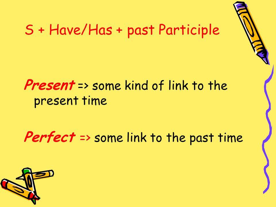 S + Have/Has + past Participle
