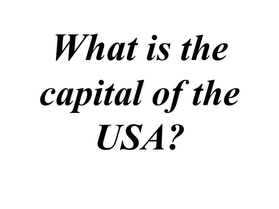 What is the capital of the USA