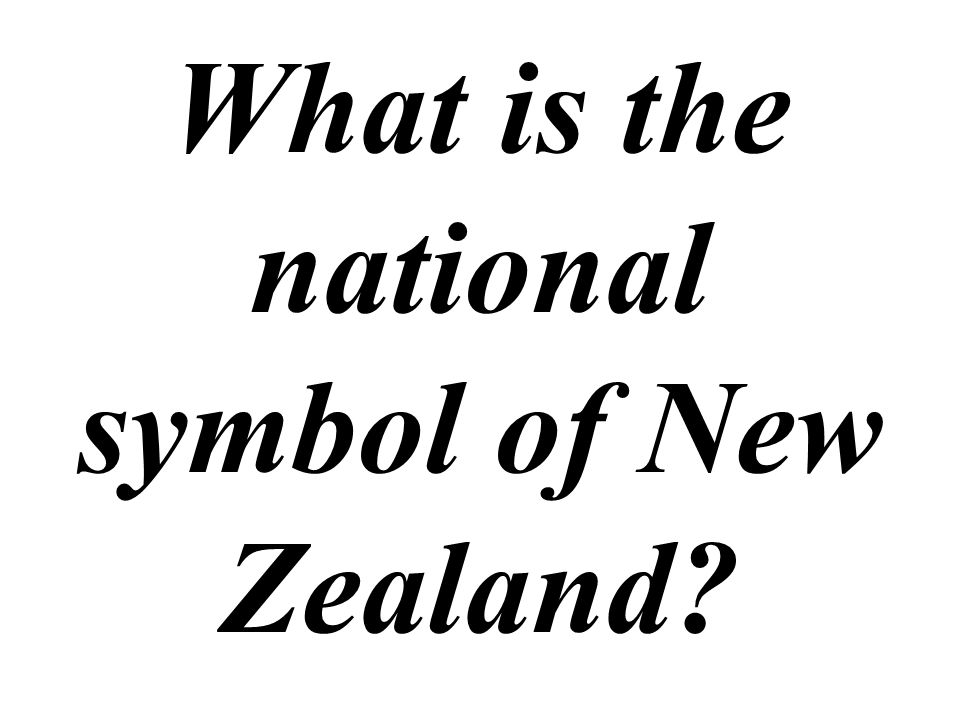 What is the national symbol of New Zealand