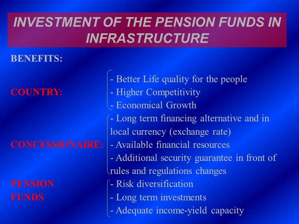 INVESTMENT OF THE PENSION FUNDS IN INFRASTRUCTURE