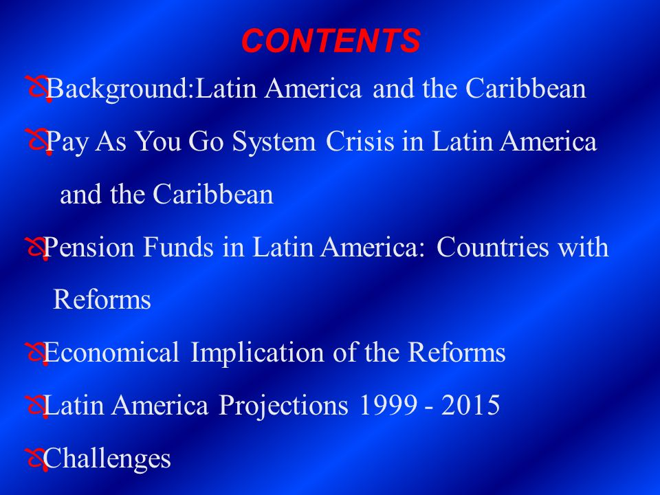 CONTENTS Background:Latin America and the Caribbean